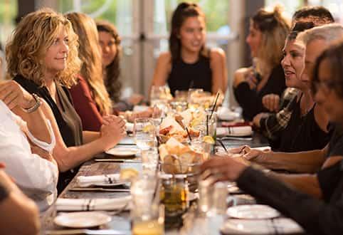 girl at table
